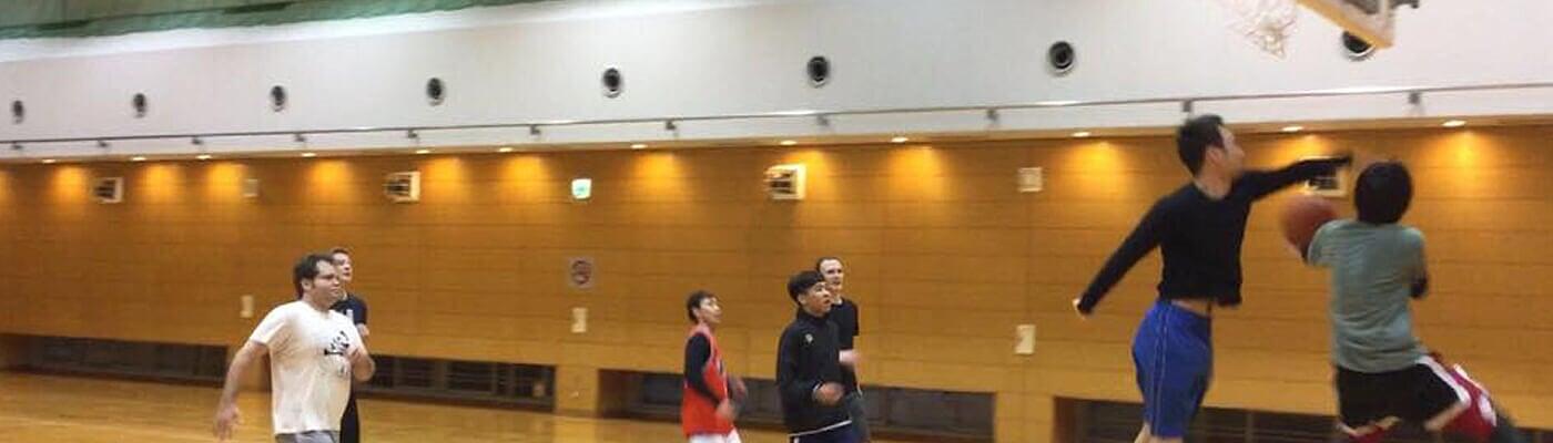 having fun with basketball