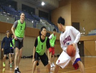 defense on basketball game in osaka