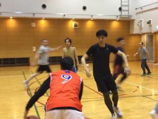 basketball indoors at osaka gym