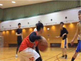enjoying basketball with omoroi life