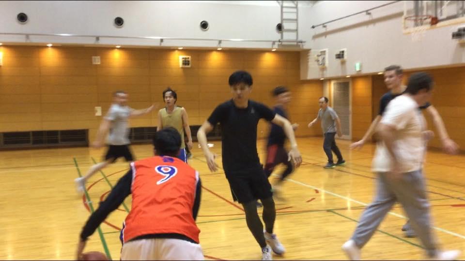dribbling the basketball