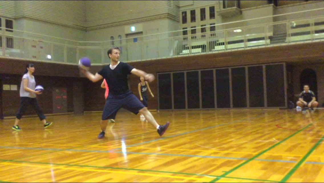 throwing a dodgeball