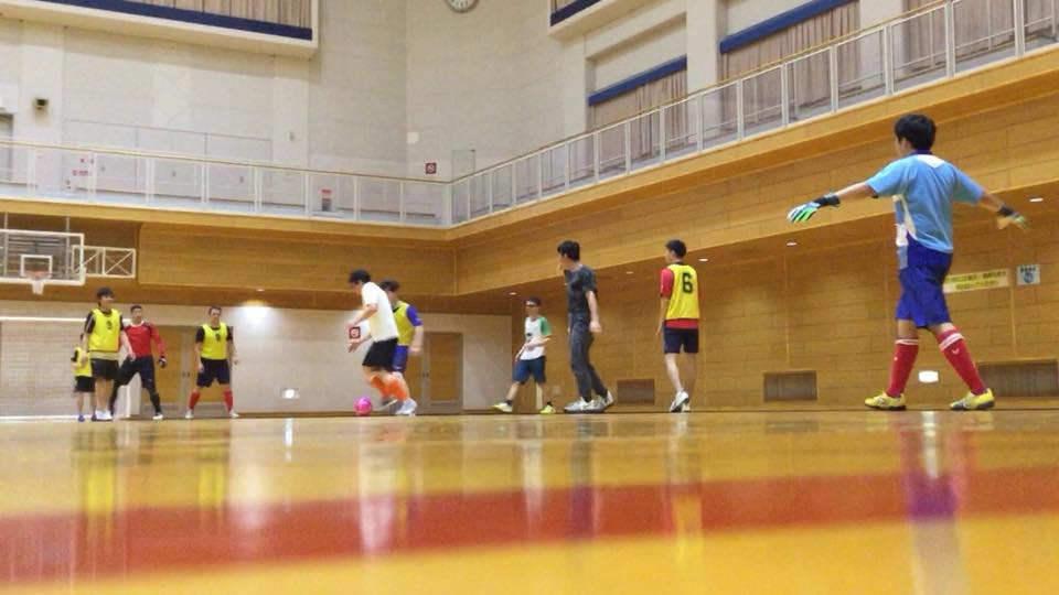 playing futsal