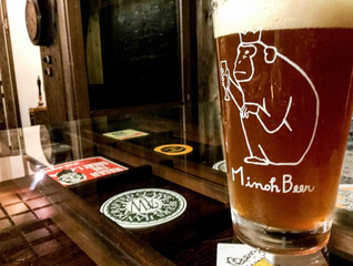 craft beer on table in shinsaibashi