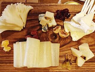 assorted cheese platter short