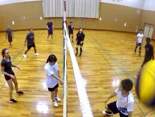 v players enjoying game in osaka