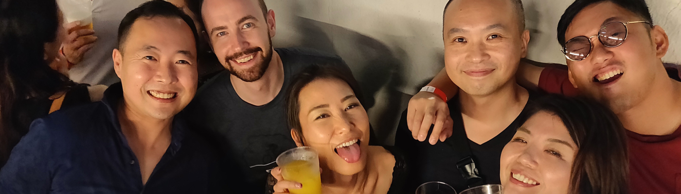 partying with japanese and foreigners in osaka