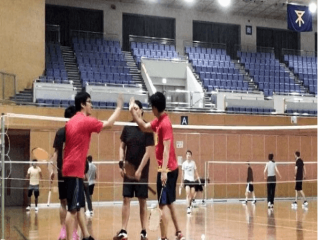 badminton players happy playtime